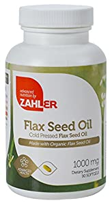Zahler Flax Seed Oil, Ultra Enriched Cold Pressed Formula, #1 Best Top Quality Flax Seed Oil Supplement, Certified Kosher, 90 SoftGels