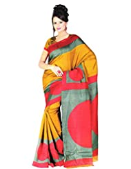 Saran's Bhagalpuri RICH Printed Art Silk Designer Saree With Blouse Piece