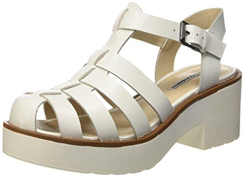 Windsor Smith Lily Leather Sandali con cinturino alla caviglia, Donna, Bianco (White), 40