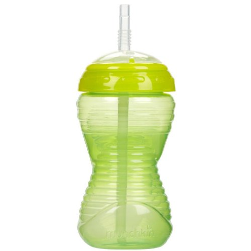 Munchkin Mighty Grip 10 oz Spill Proof Straw Cup - Green - 1