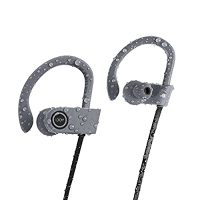 iJoy FS IPX7 Premium Sport Bluetooth Waterproof Earbuds with Noise Cancellation Technology Wireless Waterproof Earphones Waterproof Headphones