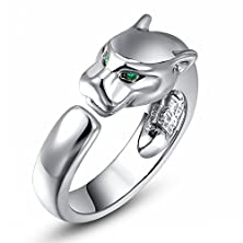 buy Angelady® 18K Platinum / Rose Gold / Gold Plated Green-Eyed Leopard Personality Fashion Ring For Men And Women (8, Alloy)