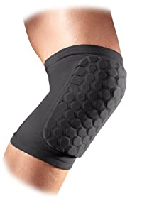 McDavid Sports Medicine 6440 Hex Knee/Elbow/Shin Pad, Large, Charcoal