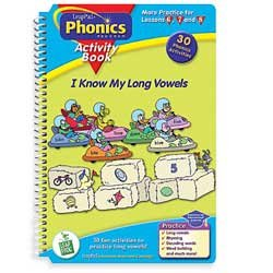LeapPad Phonics Program Activity Book 4: I Know My Long Vowels Activity Book and Cartridge