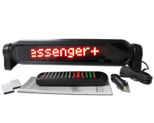 """Neoplex - 4"""" X 17"""" Red Programmable Scrolling Car Window Led Sign"""
