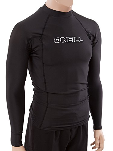 O'Neill Wetsuits UV Sun Protection Mens Basic Skins Long Sleeve Crew Sun Shirt Rash Guard, Black, X-Large (Wet Suit Xl compare prices)