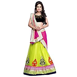 Royal Fashion GREEN DESIGNER LEHENGS CHOLI MATERIAL.