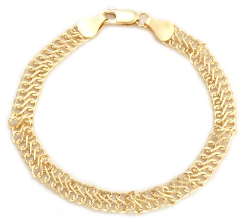 Fancy Curb Bracelet, 9ct Yellow Gold, 19cm Length, Model 1.23.3472