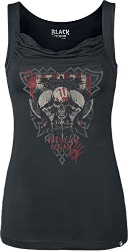Black Premium by EMP Vikings Top donna nero XS