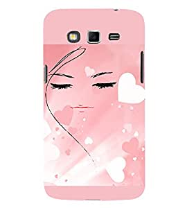 PrintVisa Girly Hearts Design 3D Hard Polycarbonate Designer Back Case Cover for Samsung Galaxy Grand 2