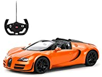 Radio Remote Control 1/14 Bugatti Veyron 16.4 Grand Sport Vitesse Licensed RC Model Car (Orange)