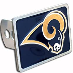St. Louis Rams Large Zinc Trailer Hitch Cover - NFL Football Fan Shop Sports Team Merchandise