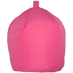 Outdoor/indoor Fuschia Pink Bean Bag with Beans LARGER SIZE