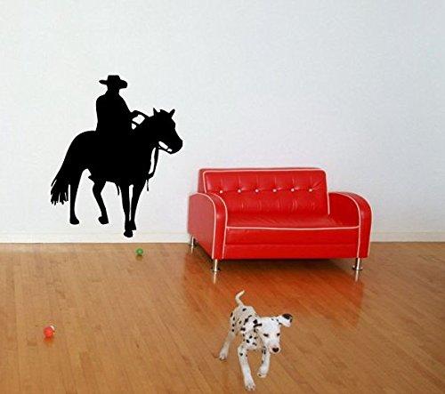 Cowboy On Horse Wall Sticker Decals Art Mural T214