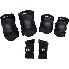 Buy Triple 8 Little Tricky 3 Pk Pads-Jr Knee Elbow Wrist Skateboard Pads by Triple 8