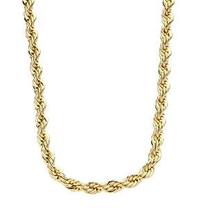 Bling Bling Hip Hop Rope Chain - 4mm - 90cm gold