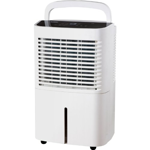 Whirlpool Energy Star 2-Speed 50 Pint Dehumidifier, Up To 3000 Sq.Ft. Features Soft-Touch Electronic Controls, Normal, Continuous And Auto Dry Options, Digital Display With 24-Hour Auto On/Off Timer, Automatic Shut-Off And Continuous Drainage Option, Whit