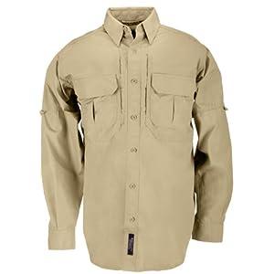 5.11 #72157 Cotton Tactical Long Sleeve Shirt (Coyote Brown, Medium)