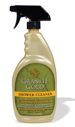 Granite gold shower cleaner for Cleaning products for marble showers