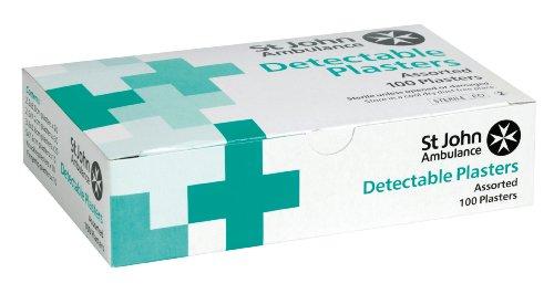 St John Ambulance Detectable Blue Plasters - 100-Pack