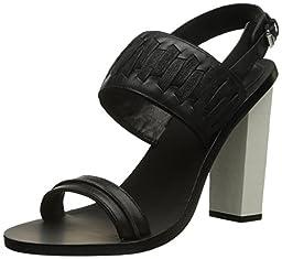 L.A.M.B. Women\'s Valiant Dress Sandal, Black, 10 M US