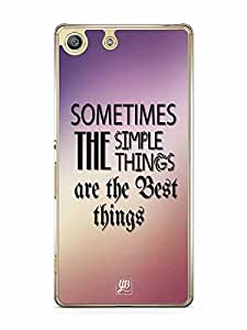YuBingo Sometimes, the Simple Things are the Best Things Designer Mobile Case Back Cover for Sony Xperia M5