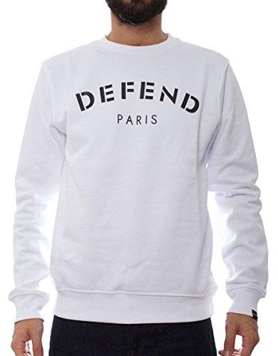 Defend Paris Defend Crew uomo, felpa, bianco, XX-Large EU
