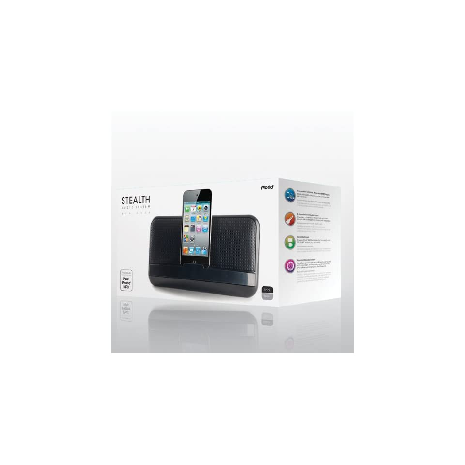 iWorld Stealth Audio Docking System in Black   Compatible with Apple IPhone/IPod