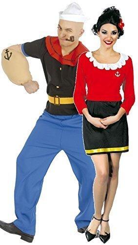 paar-damen-und-herren-popeye-olivenol-oyl-1960er-jahre-cartoon-matrose-kostum-verkleidung-outfit