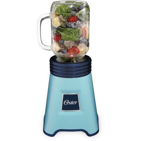Oster Fresh Blend N' Go Mason Jar Blende - Blue (Oster Beehive Blender Blue compare prices)