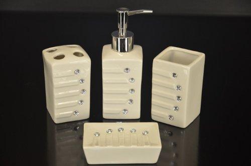 top-prix-accessoires-de-bain-de-haute-valeur-collection-4-pieces-ceramiques