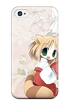 buy New Fchmiyo7056Biird Tails Chibi Brown Animal Ears Collar Drinks Whitephotoshop Fox Girls Japanese Tpu Cover Case For Iphone 4/4S