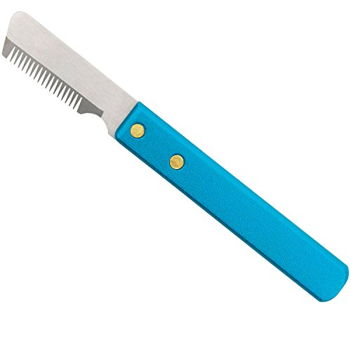 """Master Grooming Tools Stripping Knives - Non-Slip Tools for Grooming Dogs - Medium, 6¾"""""""