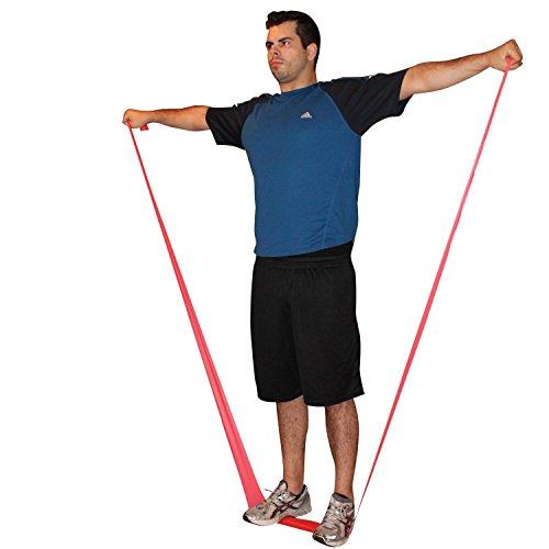 Bande elastiche di resistenza - Il set di quattro pezzi include tre bande extra lunghe di 1.5m o 2m e ganci per la porta. Allenati ovunque - A casa, in palestra o mentre sei in viaggio - Tonifica i muscoli - Perdi peso - Pilates - Yoga - Core Training - P90X - Follia (banda 1.5)