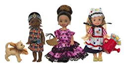 Barbie Kelly Friends Of The World 3 Doll Gift Set
