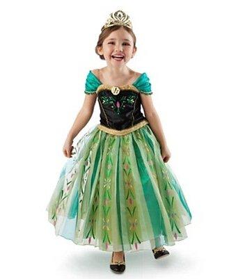 Frozen anna princess costume dress dressing up 2 3 4 5 6 7 years 2 3