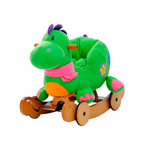 Hessie 1-3 Years Baby Detachable Dinosaur Rocking Horse With Wheels front-205338