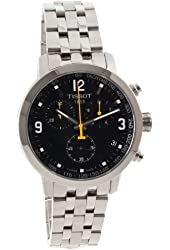 Tissot PRC 200 Black Chronograph Quartz Sport Men's watch #T055.417.11.057.00