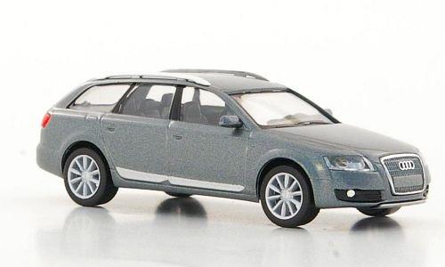 Audi-A6-Allroad-quattro-metallic-grau-Modellauto-Fertigmodell-I-Herpa-187