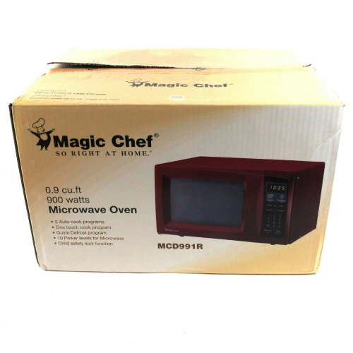 Magic chef 0 9 cu ft red countertop microwave mcd991r find sale nhat11thang51 - Red over the range microwave ...