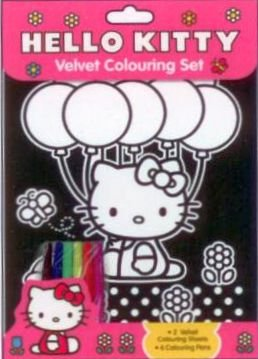 Hello Kitty: Velvet Colouring Set
