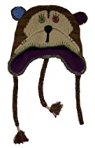 Ladies Patchwork Critter Hat - Monkey [4010]