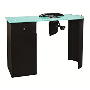 Manicure station beauty spa nail table with for Nail table with vent