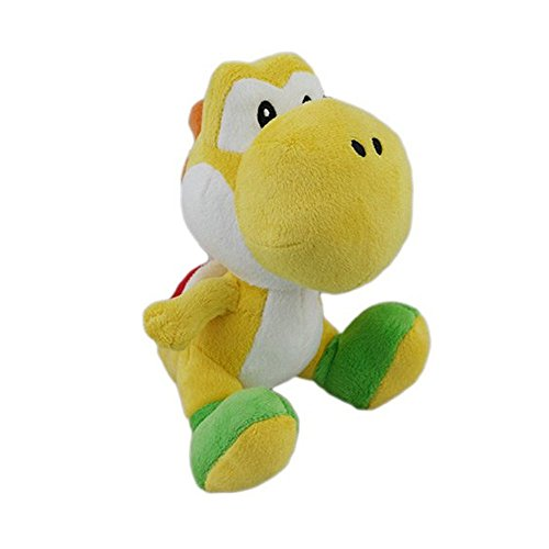 "Little Buddy Toys Nintendo Official Super Mario Yoshi Plush, 6"", Yellow - 1"