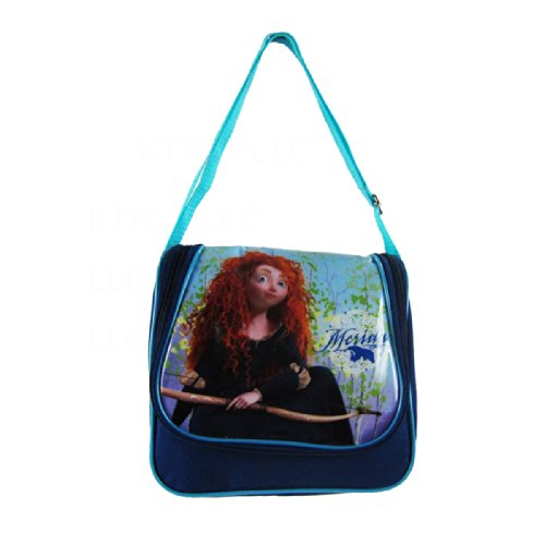 Officially Licensed Disney Pixar Brave Adjustable Strap Saddle Bag Style Lunch Box - Merida - 1