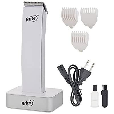 Brite BHT-1010 Professional Hair Trimmer with Dock for Unisex White