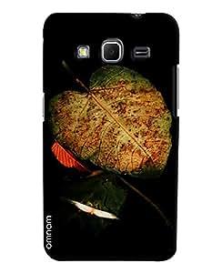 Omnam Green Leaf Effect On Black Background Printed Designer Back Cover Case For Samsung Galaxy Core Prime G360