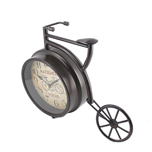 """Handcrafted Bike/Bicycle Analog Desk Clock,11""""x8.6"""",vintage Rustic Look (Black) 2"""