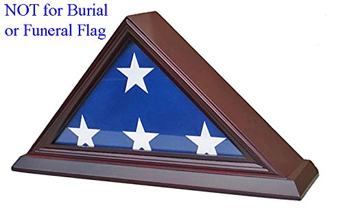 3'X5' Flag Display Case Box (NOT for Burial Funeral Flag), SOLID WOOD - Cherry Finish (FC35-CH) (Display Case 3x5 compare prices)