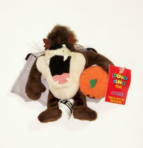 "A Looney Tunes Year: 6"" Trick or Treat Taz Mini Bean Bag (October 2000) - 1"